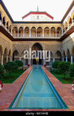 Alcazar of Seville,Spain - Stock Image