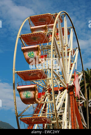 Ferris Wheel, Menton, Cote D'Azure, France. - Stock Image