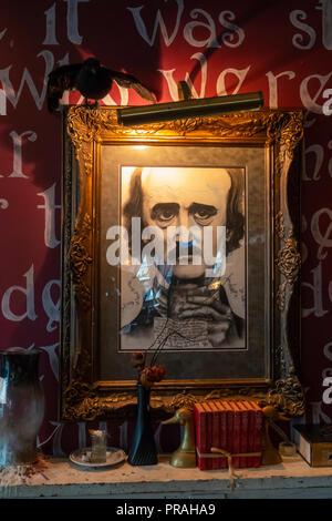 USA Maryland MD Blatimore Canton Annabel Lee Tavern Edgar Allan Poe Themed Bar - Stock Image