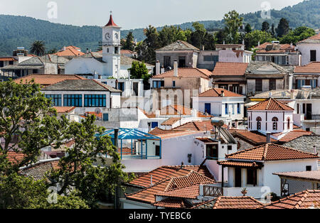 Rooftops in Skiathos Town, Northern Sporades Greece. - Stock Image