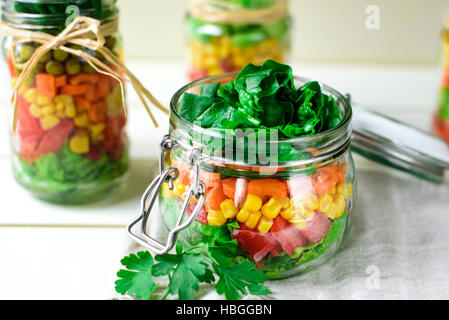 Salad in a Jar - Stock Image