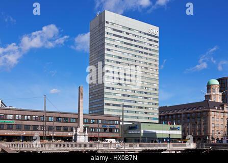The Radisson Blu Royal Hotel, the SAS Hotel, Vesterbrogade, central Copenhagen, Denmark. Architect Arne Jacobsen. - Stock Image