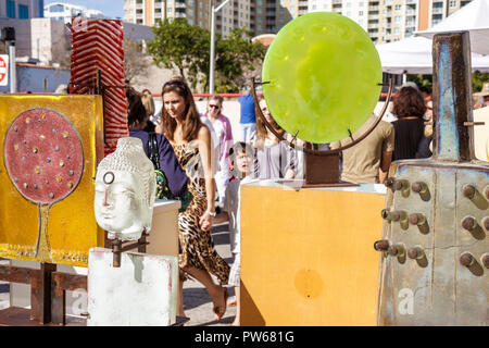 Fort Lauderdale Ft. Florida Las Olas Boulevard Las Olas Art Fair festival street fair community event art Asian sculpture glass - Stock Image