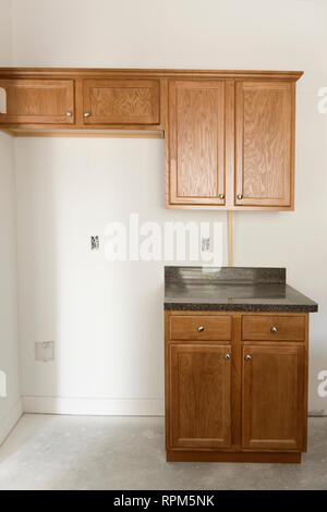 Kitchen Cabinets And Countertop - Stock Image