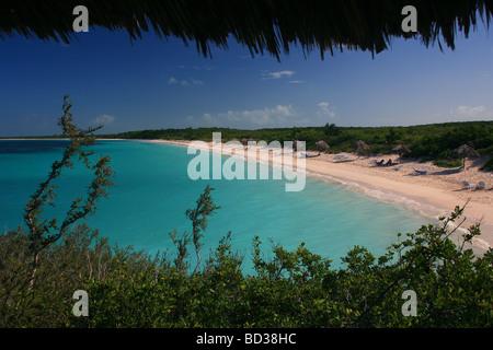 Cuba Cayo Santa Maria Turquoise sea at Playa Periquillo seen from Villa Las Brujas Photo CUBA1587 Copyright Christopher - Stock Image
