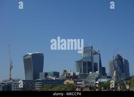 City Skyline, London, UK - Stock Image