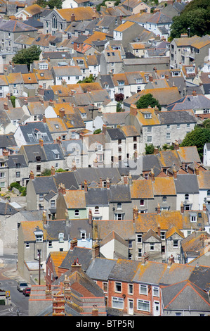 Portland Terrace Houses, Dorset, - Stock Image