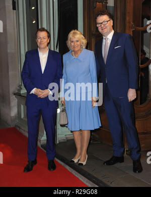 'Fortnum and Mason: Christmas and Other Winter Feasts' book launch in London  Featuring: Tom Parker Bowles, Duchess of Cornwall Where: London, United Kingdom When: 17 Oct 2018 Credit: WENN.com - Stock Image