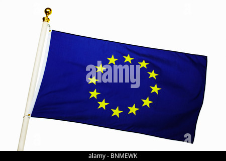 European Union Flag Flying - Stock Image