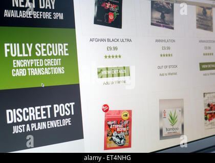 Legal highs for sale on the internet - Stock Image