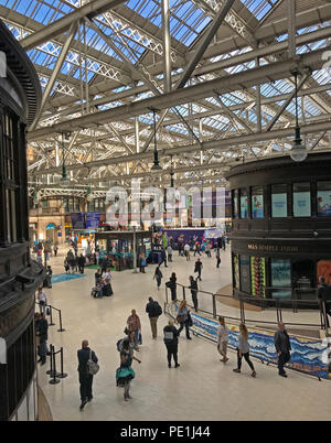 Glasgow Central Mainline Railway Station, Gordon Street, Glasgow, Scotland, UK - Stock Image