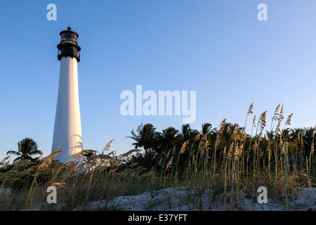 Historic Cape Florida Lighthouse located in the Bill Baggs Cape Florida State Park on Key Biscayne, Miami, Florida, - Stock Image