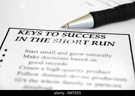 Keys to sucess - Stock Image