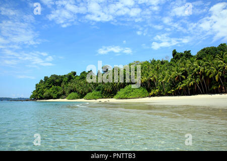 Tropical Beach of Coibita, aka Rancheria. Coiba National Park, Panama - Stock Image