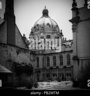 Radcliffe Camera view from Brasenose college, Oxford University, United Kingdom - Stock Image