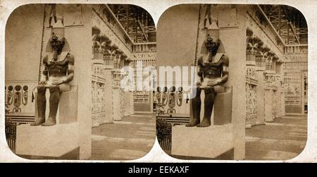 Egyptian Hall, Crystal Palace, ca 1859, by Philip Henry Delamotte - Stock Image