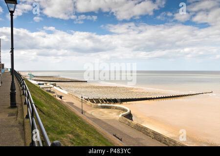 Cromer Promenade, Norfolk, UK. - Stock Image
