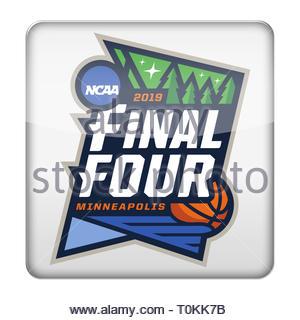 NCAA Basketball Tournament logo symbol - Stock Image