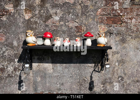Quirky garden ornaments. - Stock Image