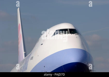 nose, windshield and tail at the 2005 Paris AirShow, Salon-du-Bourget - Stock Image