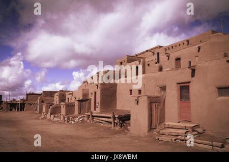 Pueblos Architecture, Taos, New Mexico - Stock Image