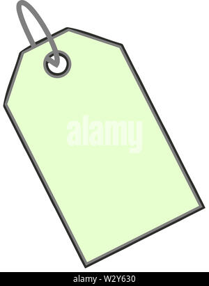 sale discount clearance tag illustration green color - Stock Image