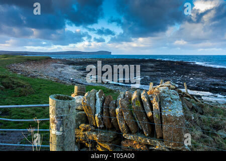 Dunnet Head from near Scarfskerry, Caithness, Scotland, UK - Stock Image