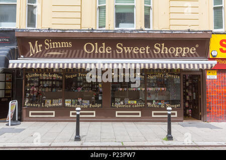 Mr Simms, Olde Sweet Shoppe at Hastings, East Sussex, England , UK - Stock Image