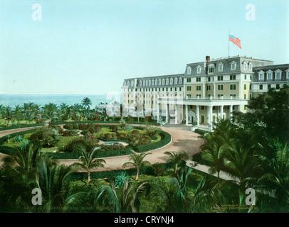 Royal Palm Hotel, Miami, Florida, 1901, William Henry Jackson - Stock Image