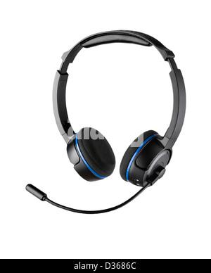 A pair of streamline gaming headphones - Stock Image
