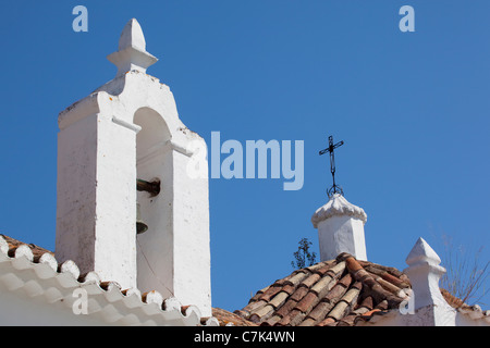 Portugal, Algarve, Alte, Church Rooftop - Stock Image