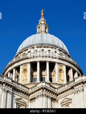 St Pauls Cathedral Dome, London, England, United Kingdom - Stock Image