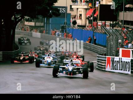 1996 Damon Hill GB Williams FW18 Monaco GP dnf FL - Stock Image
