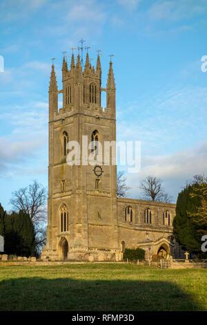 15th Century St Peter's Church, Lowick, Northamptonshire, UK - Stock Image