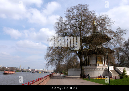 Battersea Park by River Thames London Spring 2010 - Stock Image