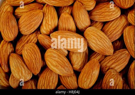 almonds background - Stock Image