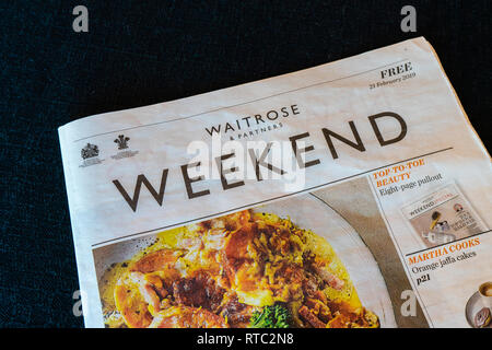 A copy of a Waitrose weekend magazine/ paper, UK - Stock Image