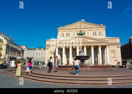 Bolshoi Theatre, Teatralnaya Ploshchad, Moscow, Russia - Stock Image