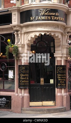 Entrance to St James Tavern Great Windmill Street Soho London - Stock Image