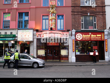 Restaurants at Chinatown London 2006 - Stock Image