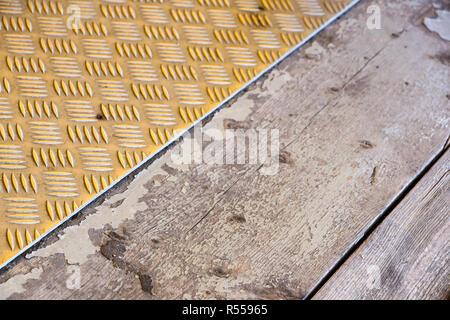 Anti-slip pads yellow black on background. - Stock Image