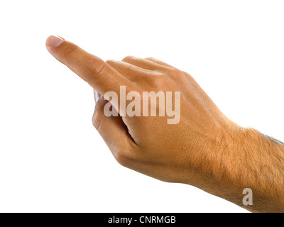A male hand pointing - Stock Image