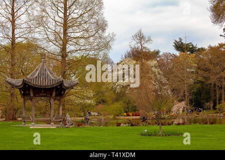 Pagoda at RHS Wisley, Woking, Surrey - Stock Image