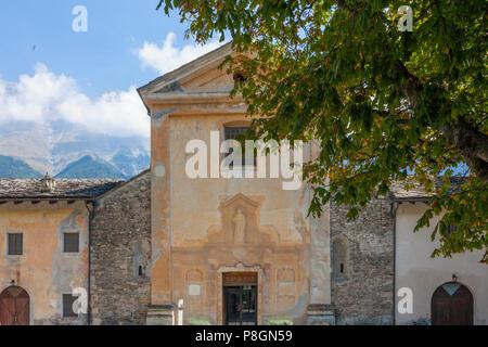 Novalesa Abbey (Italian: Abbazia di Novalesa) Benedictine monastery Valle di Susa, Piemonte, Italy - Stock Image