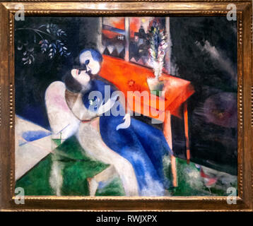 The Lovers, Marc Chagall , The Metropolitan Museum of Art, Manhattan, New York USA - Stock Image