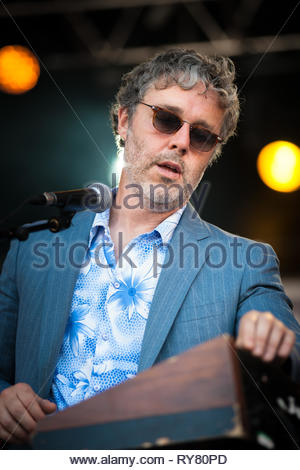 BAXTER DURY performing live at Musilac summer festival, 11 july 2015 - Stock Image
