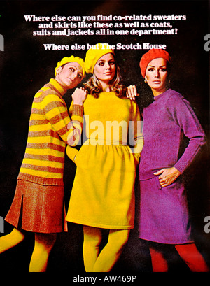 1960s Nova Magazine October 1968 Advertisement for The Scotch House Fashion Knightsbridge FOR EDITORIAL USE ONLY - Stock Image