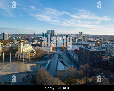 Estonia, Tallinn - 04.11.2018 : Aerial view of CITY TALLINN ESTONIA - Stock Image