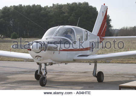 Pula Croatia Air show 2005 Utva 75 '001' basic trainer Croatian Air Force - Stock Image
