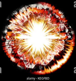 Rendered explosion - Stock Image